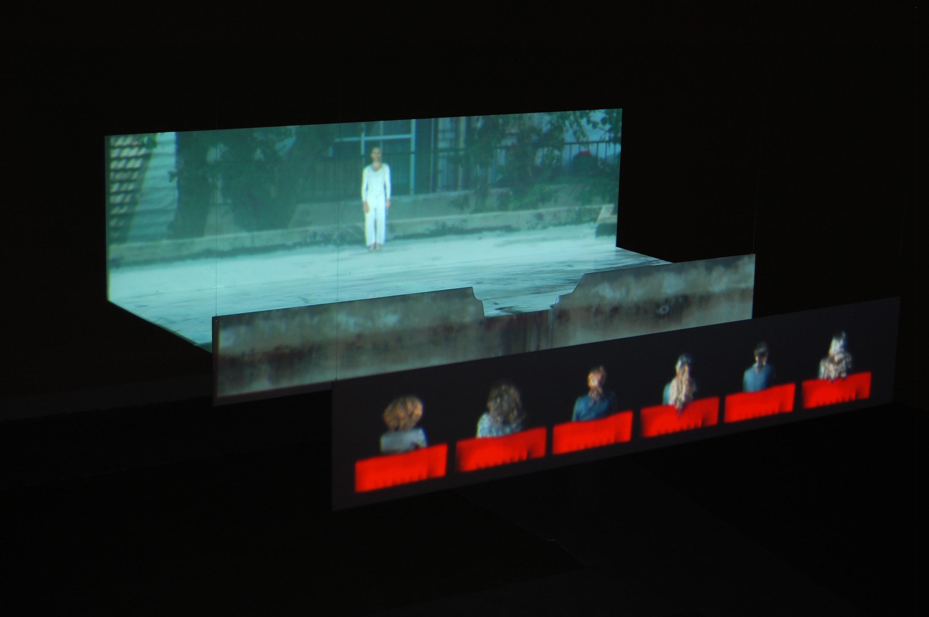 Michel Platnic, Self-portrait as a Warrior video installation, 0557